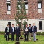 西南学院100年館・記念植樹式