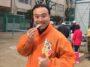 平尾小学校での餅つき大会に参加!(2018年12月9日)