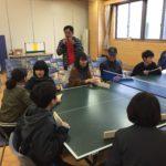 インターン生、卓球バレーに挑戦!(2019年3月3日)